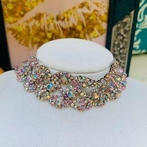 Jewelry - Fashion Wide Dazzling Silver Choker Necklace